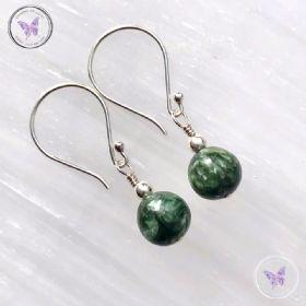 Classical Seraphinite Silver Earrings